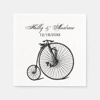 Guardanapo De Papel Bicicleta da bicicleta do Velocipede do vintage