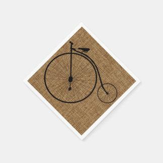 Guardanapo De Papel Bicicleta do Moeda de um centavo-Farthing do