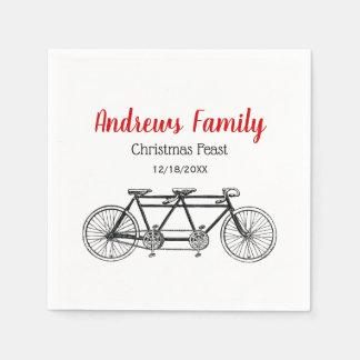 Guardanapo De Papel Bicicleta do vintage construída para
