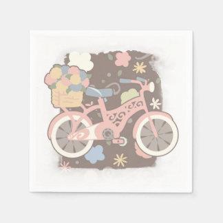 Guardanapo De Papel Bicicleta retro e flores