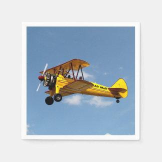 Guardanapo De Papel Biplano do correio aéreo