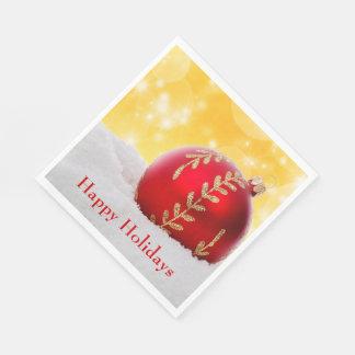 Guardanapo De Papel Bola do Natal da neve de Bokeh do Natal