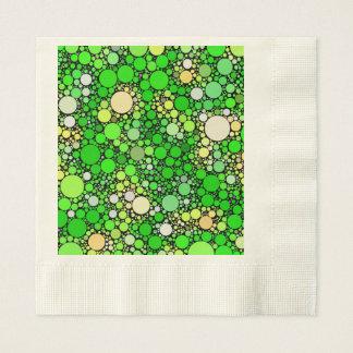 Guardanapo De Papel Bolhas de Zazzy, verdes