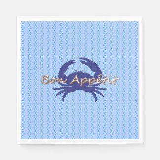 Guardanapo De Papel Bon-Apetite--BLUE_Crab-diamond--Comemore