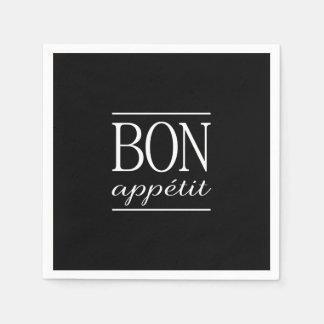 Guardanapo De Papel BON tipografia preta & branca de APPETIT da