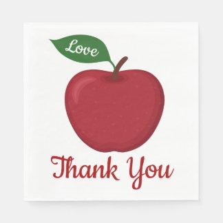 Guardanapo De Papel Borgonha Apple vermelho agradece-lhe país da festa