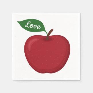Guardanapo De Papel Borgonha Apple vermelho ama o país do partido de