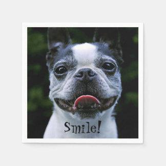 Guardanapo De Papel Boston de sorriso Terrier