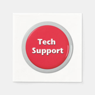 Guardanapo De Papel Botão de pânico vermelho do suporte técnico