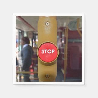Guardanapo De Papel Botão de paragem do autocarro