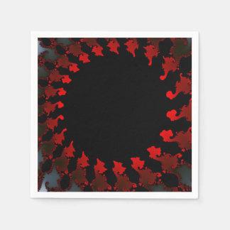 Guardanapo De Papel Branco preto vermelho do Fractal