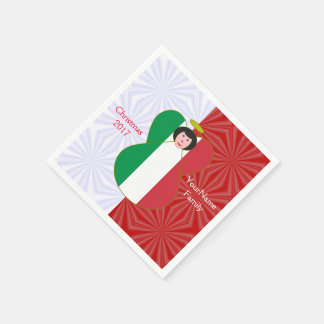 Guardanapo De Papel Branco vermelho Preto-de cabelo do anjo italiano