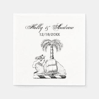 Guardanapo De Papel Brasão heráldica formal da palmeira do camelo