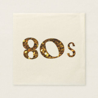 Guardanapo De Papel brilho do ouro da nostalgia 80s