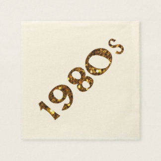 Guardanapo De Papel brilho do ouro da nostalgia dos anos 80