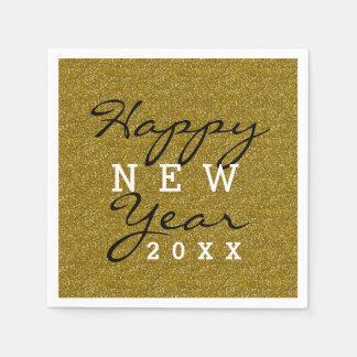 Guardanapo De Papel Brilho do ouro do feliz ano novo