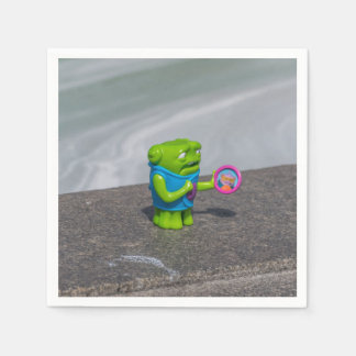Guardanapo De Papel Brinquedo verde do plástico do monstro