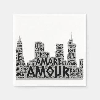 Guardanapo De Papel Brooklyn New York ilustrada com palavra do amor
