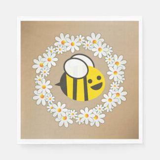 Guardanapo De Papel Bumble a abelha em uma festa de aniversário da