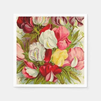 Guardanapo De Papel Buquê de flores da ervilha doce
