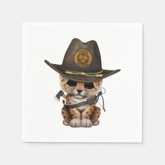 Guardanapo De Papel Caçador bonito do zombi de Cub do leopardo