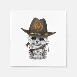 Guardanapo De Papel Caçador bonito do zombi de Cub do leopardo de neve