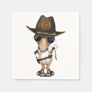 Guardanapo De Papel Caçador bonito do zombi do pônei