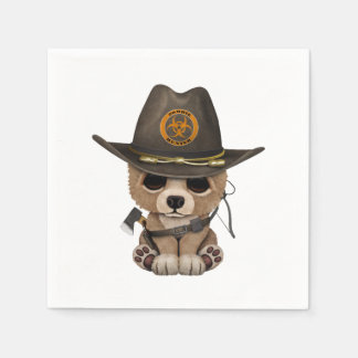 Guardanapo De Papel Caçador do zombi de Cub de urso do bebê