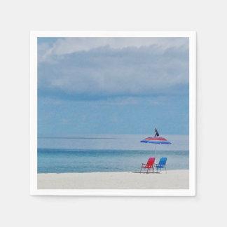Guardanapo De Papel Cadeiras na praia