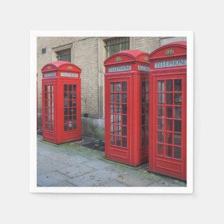 Guardanapo De Papel Caixas vermelhas do telefone de Londres