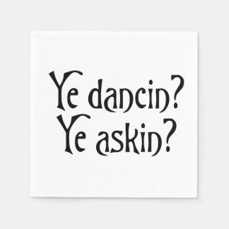 Guardanapo De Papel Calão escocês engraçado do YE Dancin YE Askin