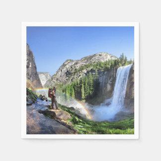 Guardanapo De Papel Caminhante da queda e arco-íris Vernal - Yosemite
