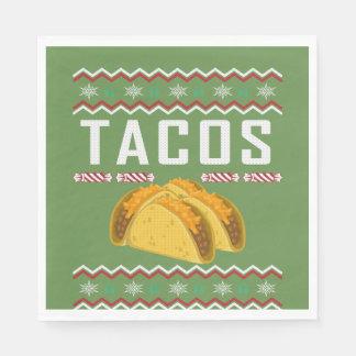 Guardanapo De Papel Camisola feia do Natal do Tacos