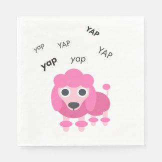 Guardanapo De Papel Caniche Emoji bonito do Yap