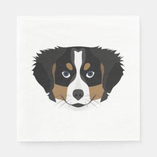 Guardanapo De Papel Cão de montanha de Bernese da ilustração
