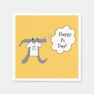Guardanapo De Papel Cara engraçada do Pi - dia feliz do Pi