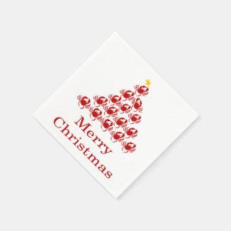 Guardanapo De Papel Caranguejo do Feliz Natal