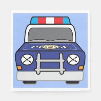 Guardanapo De Papel Carro-patrulha azul corajoso da polícia