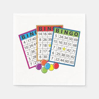 Guardanapo De Papel Cartões do Bingo
