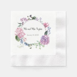 Guardanapo De Papel Casamento branco da flor do hibiscus