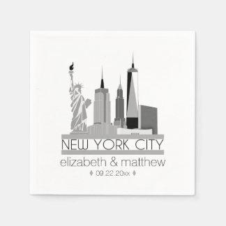 Guardanapo De Papel Casamento da skyline da Nova Iorque