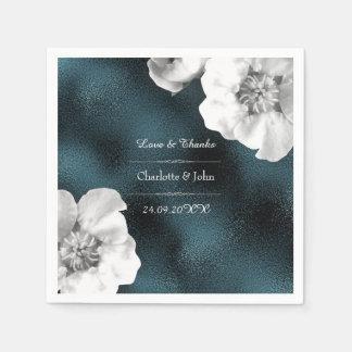 Guardanapo De Papel Casamento de vidro cinzento personalizado real da