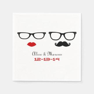 Guardanapo De Papel Casamento do hipster
