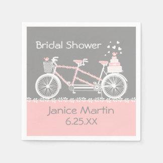 Guardanapo De Papel Casamento em tandem da bicicleta