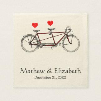 Guardanapo De Papel Casamento feito sob encomenda da bicicleta em