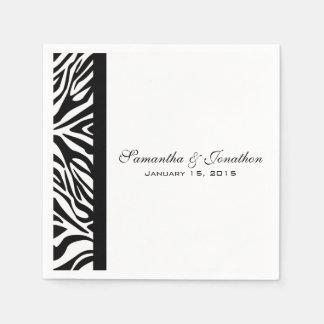 Guardanapo De Papel Casamento feito sob encomenda da zebra preto e