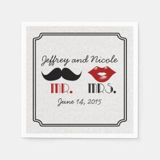 Guardanapo De Papel Casamento feito sob encomenda do bigode retro
