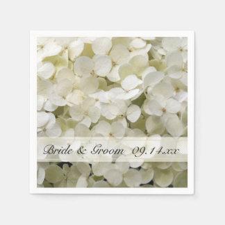 Guardanapo De Papel Casamento floral do Hydrangea branco
