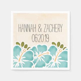 Guardanapo De Papel Casamento havaiano do hibiscus da piscina