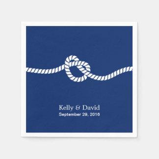 Guardanapo De Papel Casamento náutico do casando dos azuis marinhos